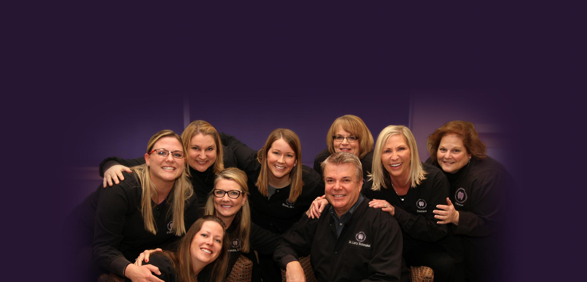 Dr. Larry Schmakel and staff